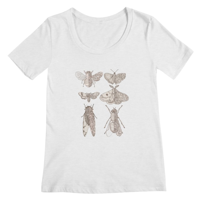 sci-fly collection Women's Regular Scoop Neck by makapa's Artist Shop