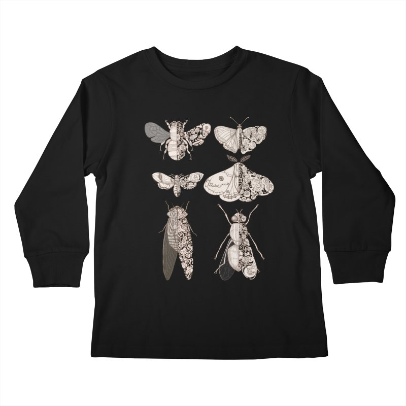 sci-fly collection Kids Longsleeve T-Shirt by makapa's Artist Shop