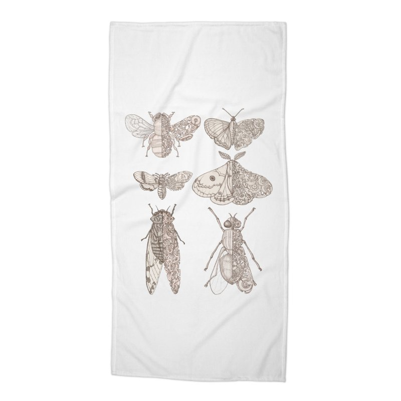 sci-fly collection Accessories Beach Towel by makapa's Artist Shop