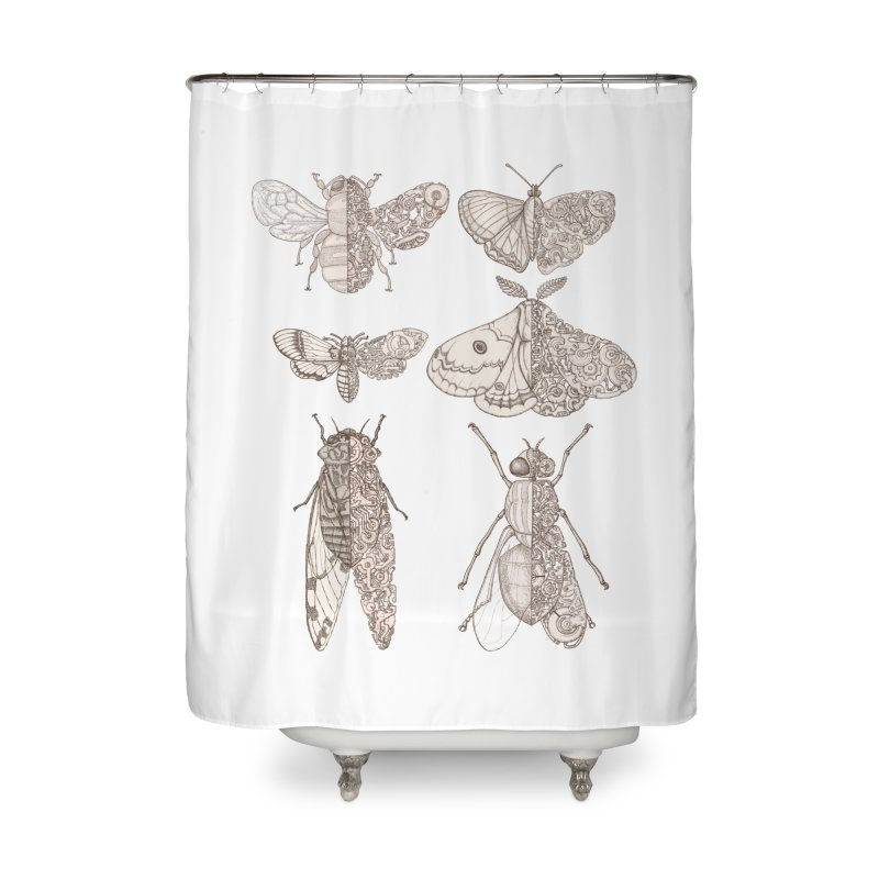 sci-fly collection Home Shower Curtain by makapa's Artist Shop