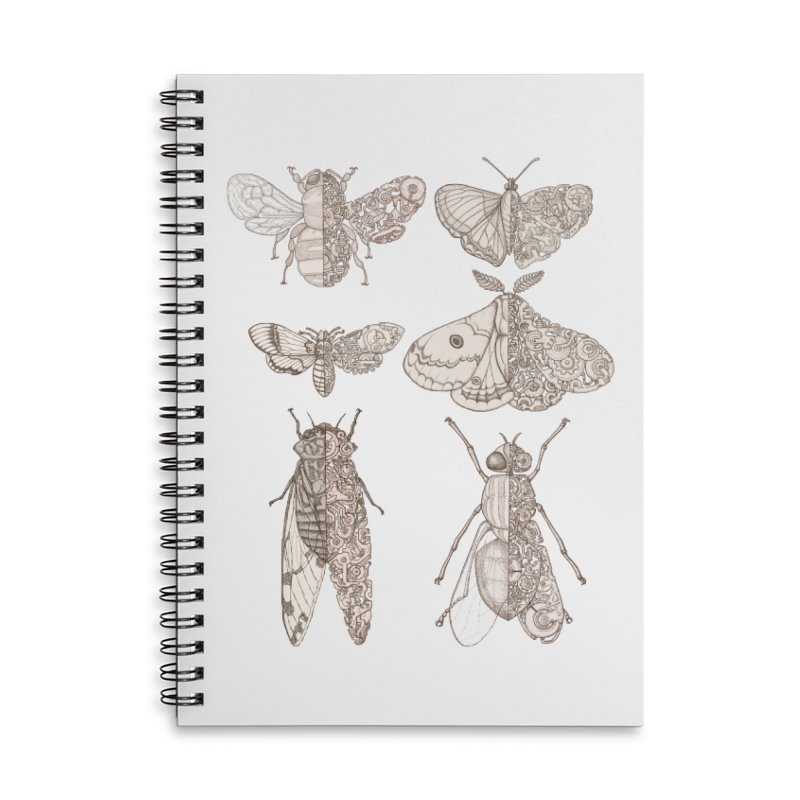 sci-fly collection Accessories Lined Spiral Notebook by makapa's Artist Shop