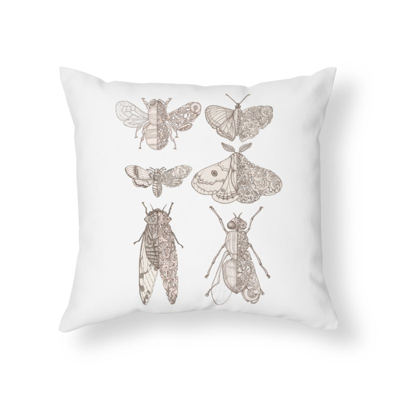 sci-fly collection Home Throw Pillow by makapa's Artist Shop