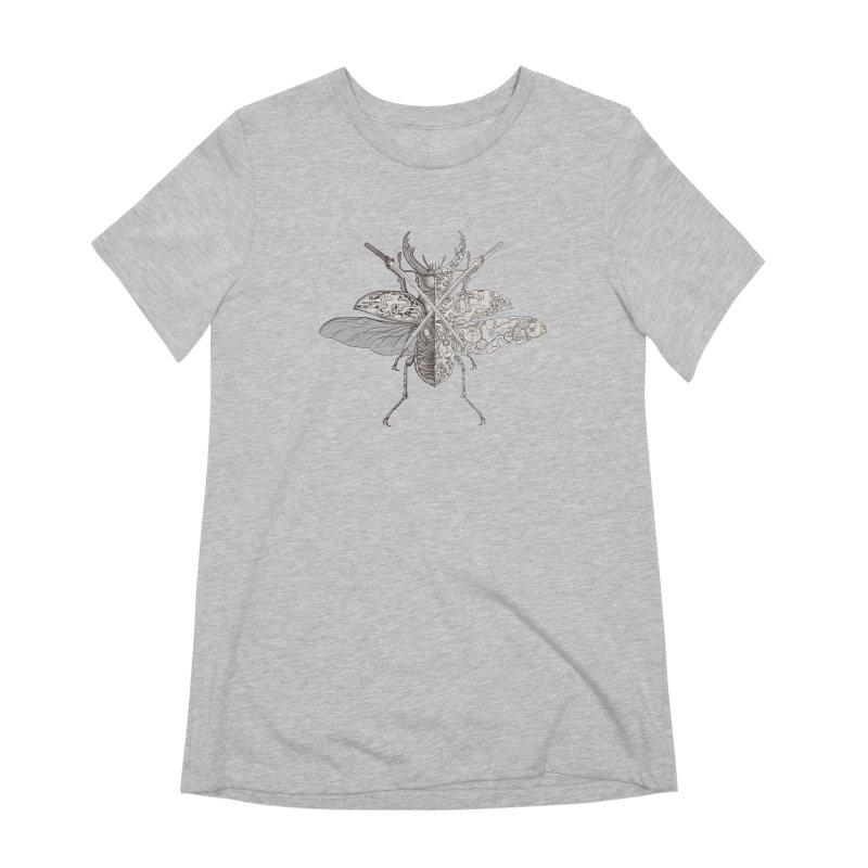 stag beetle samurai Women's T-Shirt by makapa's Artist Shop