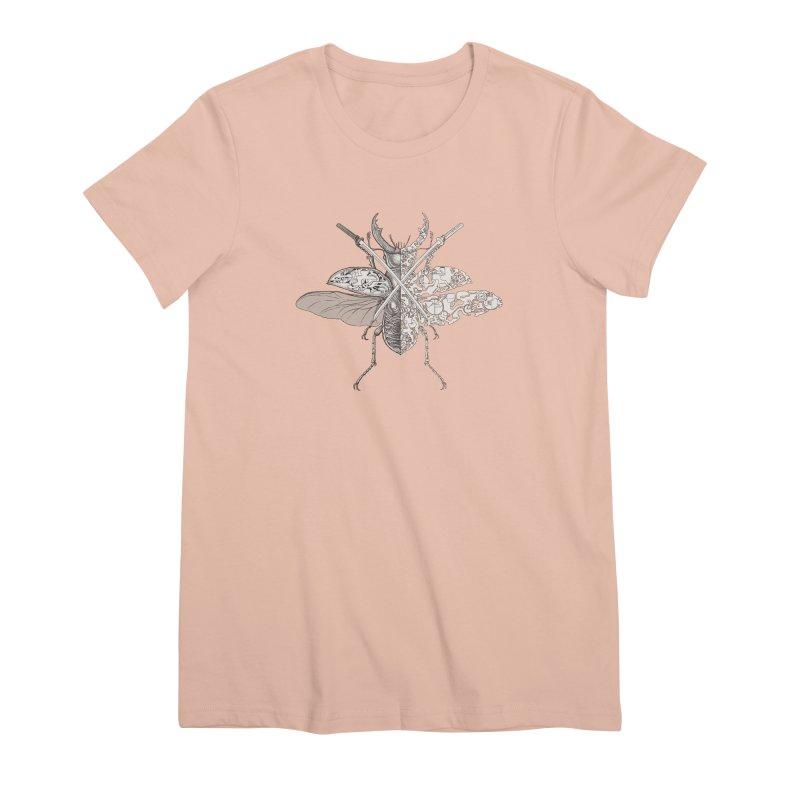 stag beetle samurai Women's Premium T-Shirt by makapa's Artist Shop