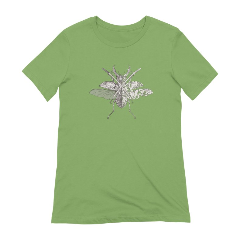 stag beetle samurai Women's T-Shirt by makapa's Artist Shop