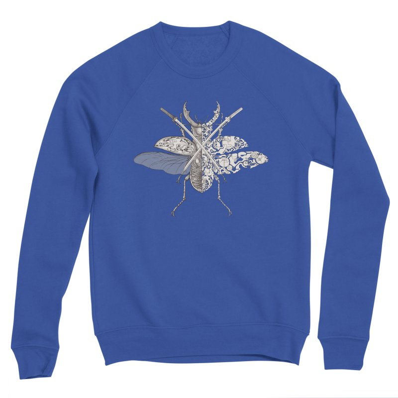 stag beetle samurai Women's Sponge Fleece Sweatshirt by makapa's Artist Shop