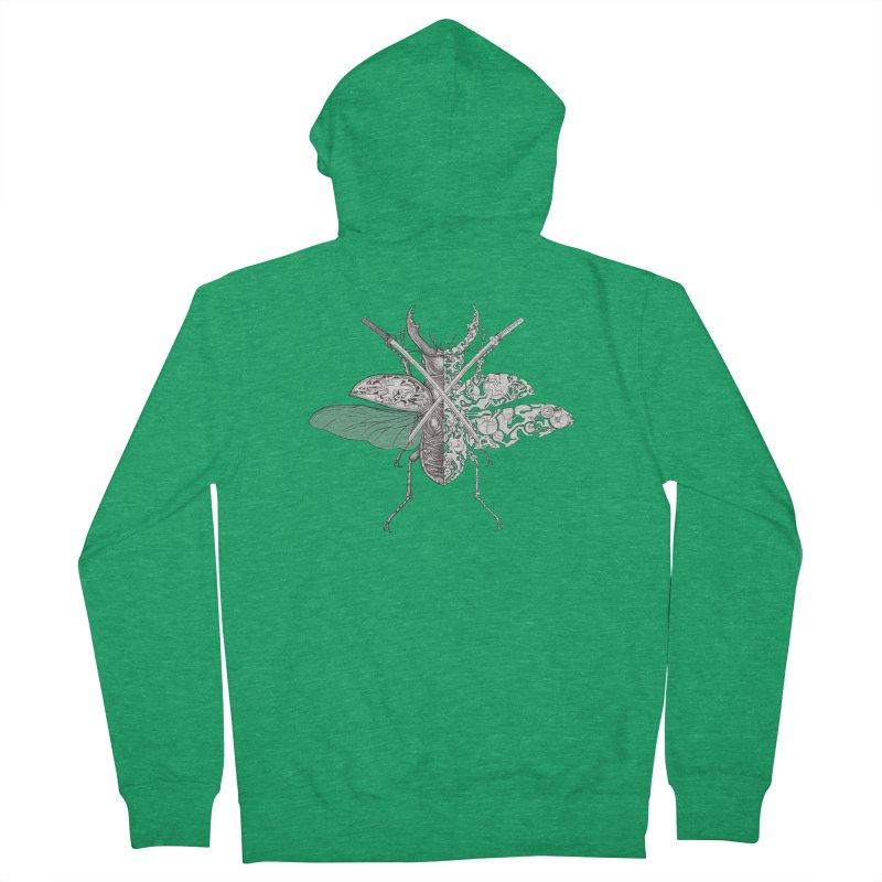 stag beetle samurai Women's Zip-Up Hoody by makapa's Artist Shop