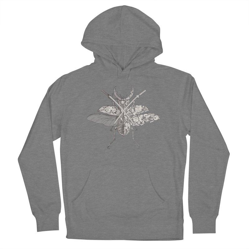 stag beetle samurai Women's Pullover Hoody by makapa's Artist Shop