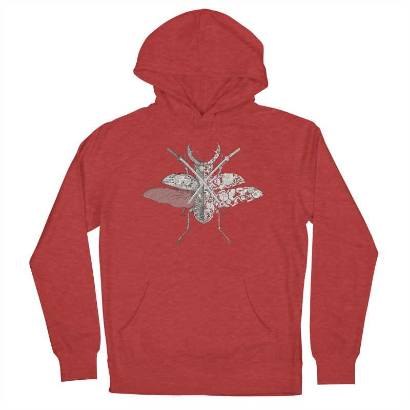 stag beetle samurai Women's French Terry Pullover Hoody by makapa's Artist Shop