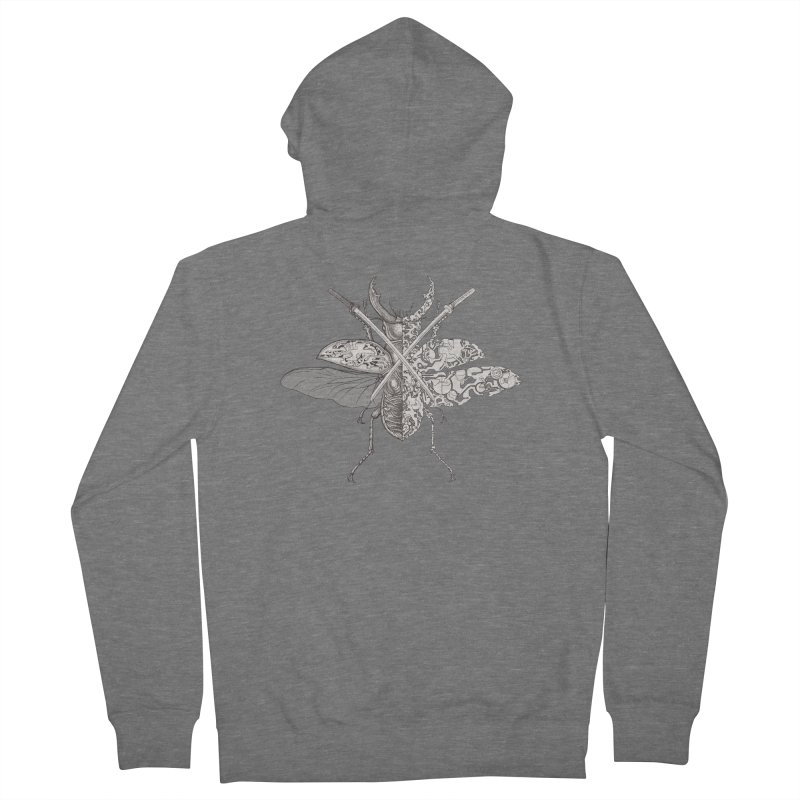 stag beetle samurai Women's Zip-Up Hoody by makapa's Artist Shop