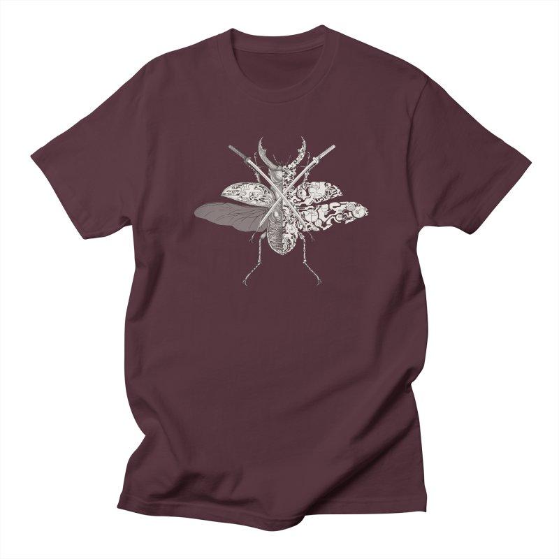 stag beetle samurai Women's Regular Unisex T-Shirt by makapa's Artist Shop