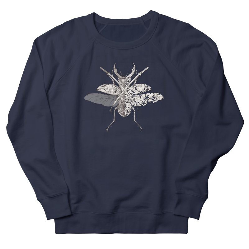stag beetle samurai Women's French Terry Sweatshirt by makapa's Artist Shop