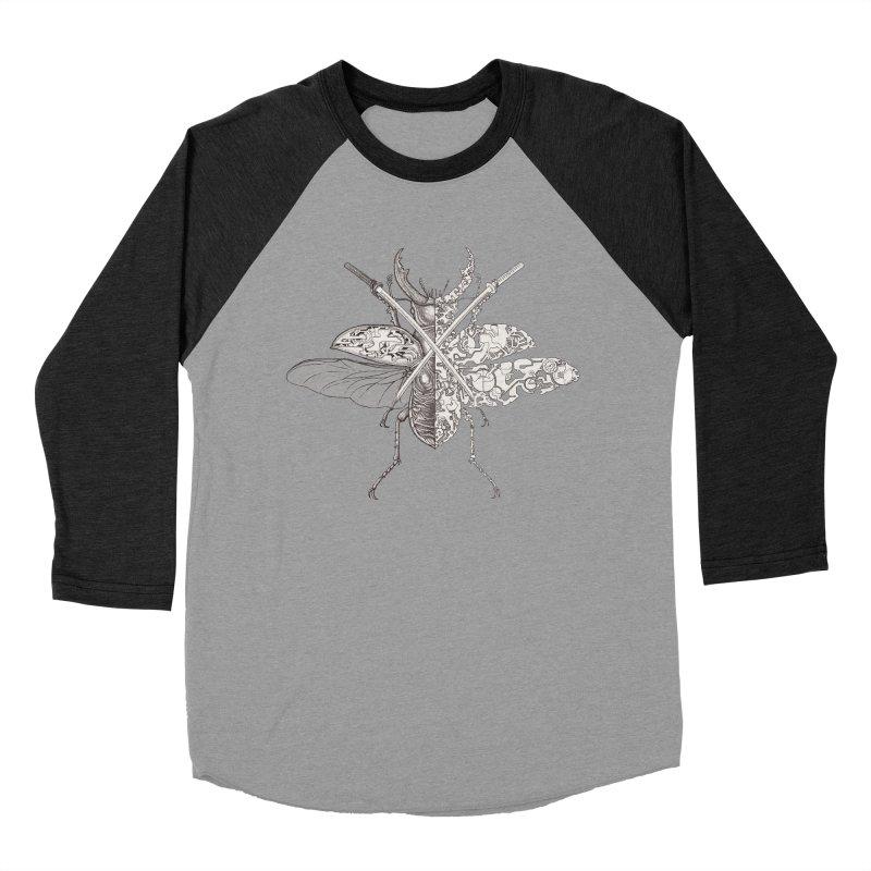 stag beetle samurai Women's Baseball Triblend Longsleeve T-Shirt by makapa's Artist Shop