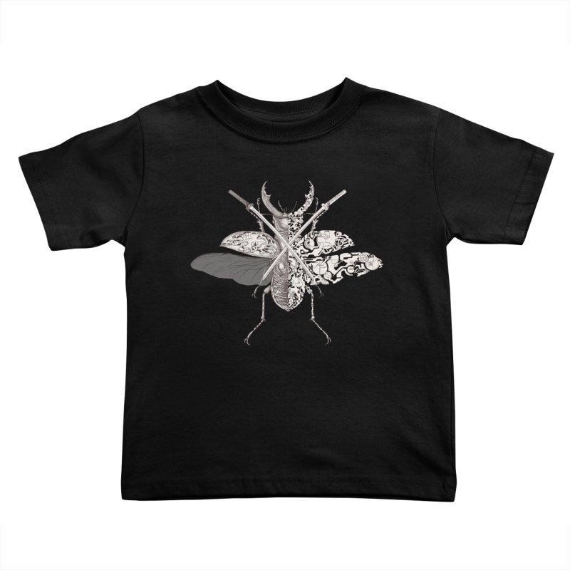 stag beetle samurai Kids Toddler T-Shirt by makapa's Artist Shop