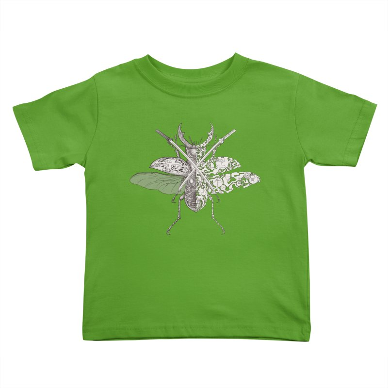 stag beetle samurai Kids Toddler T-Shirt by makapa's Artist Shop