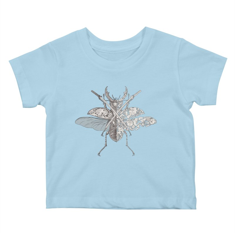 stag beetle samurai Kids Baby T-Shirt by makapa's Artist Shop