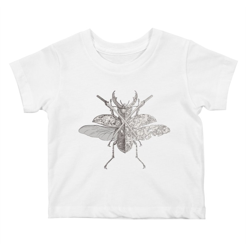 stag beetle samurai Kids Baby T-Shirt by makapa's Artist Shop