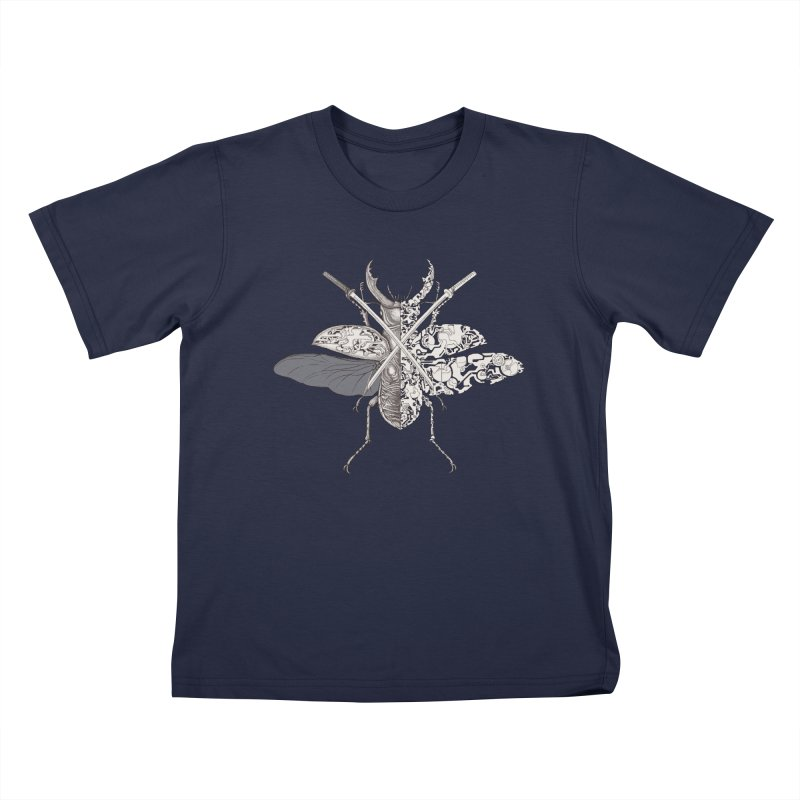 stag beetle samurai Kids T-Shirt by makapa's Artist Shop