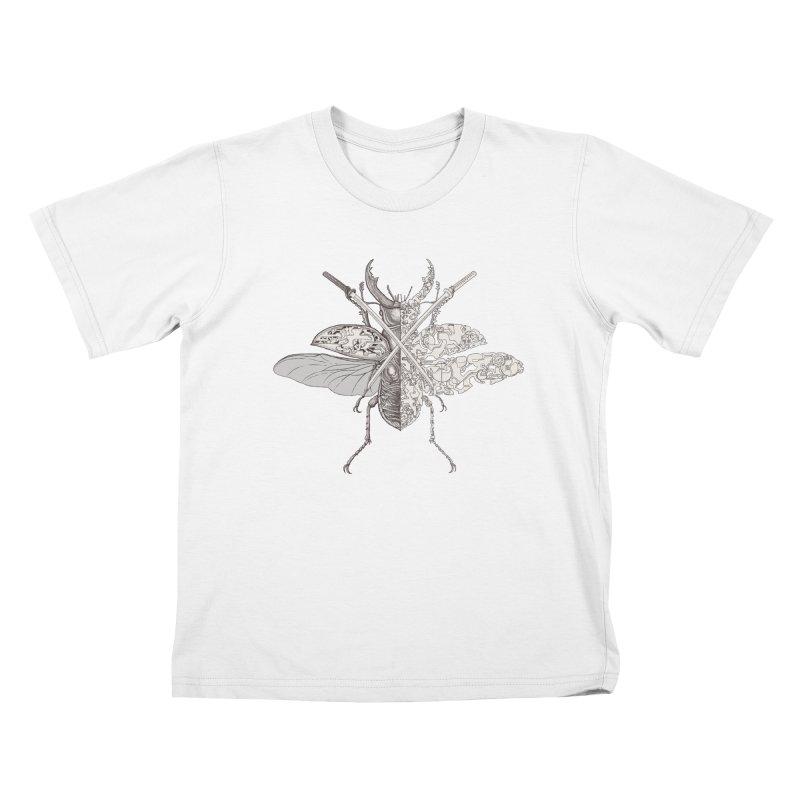 stag beetle samurai Kids T-Shirt by makapa's Artist Shop