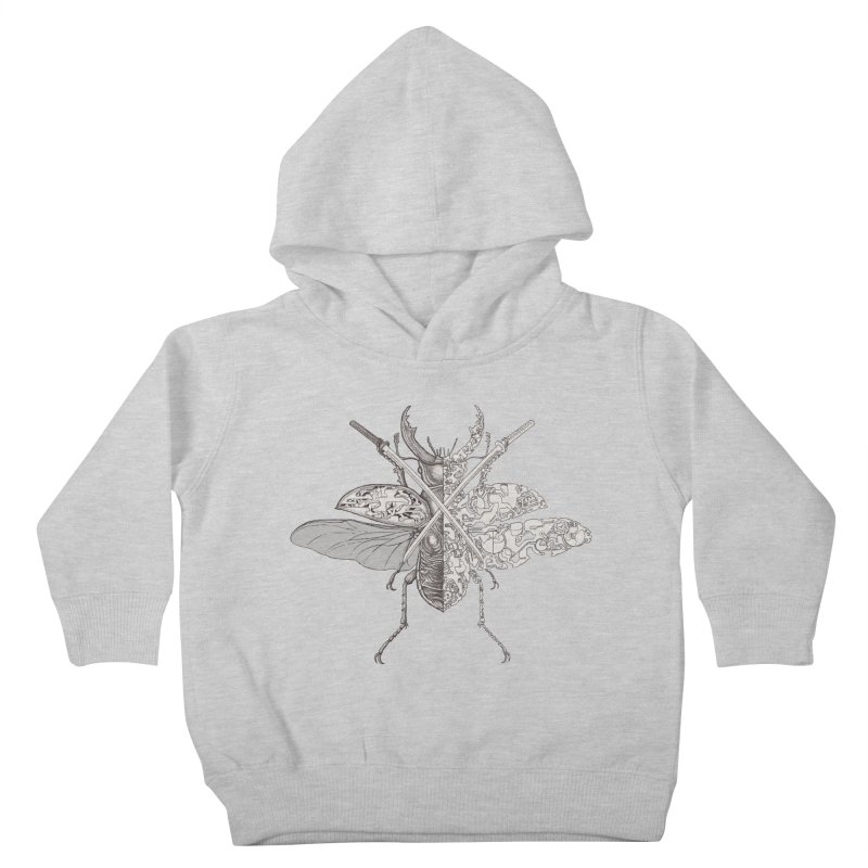 stag beetle samurai Kids Toddler Pullover Hoody by makapa's Artist Shop