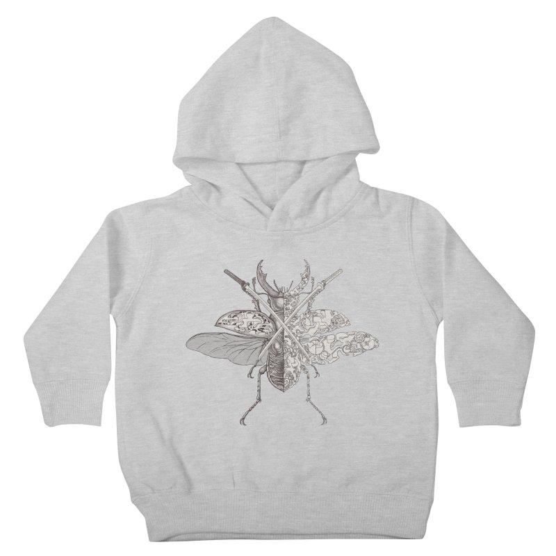 stag beetle samurai Kids Toddler Pullover Hoody by makapa's Artist Shop