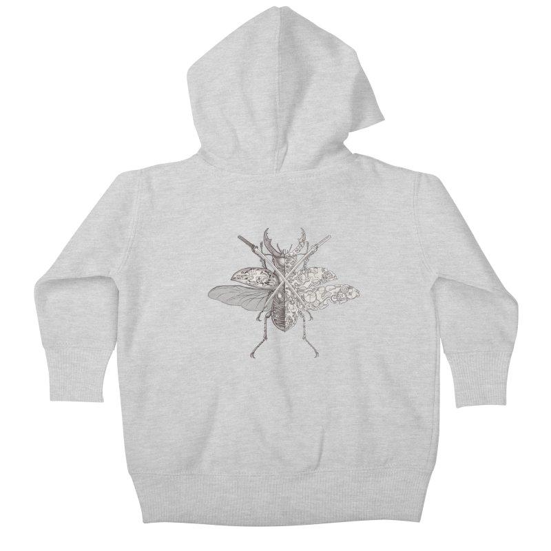 stag beetle samurai Kids Baby Zip-Up Hoody by makapa's Artist Shop