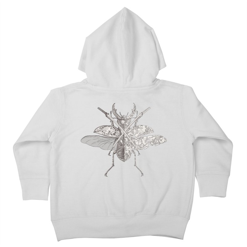 stag beetle samurai Kids Toddler Zip-Up Hoody by makapa's Artist Shop