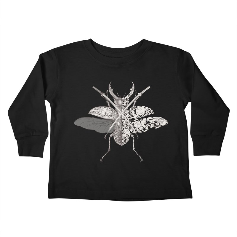 stag beetle samurai Kids Toddler Longsleeve T-Shirt by makapa's Artist Shop