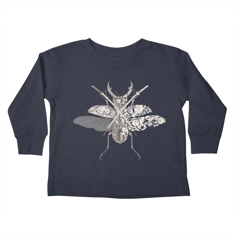 stag beetle samurai Kids Toddler Longsleeve T-Shirt by makapa's Artist Shop