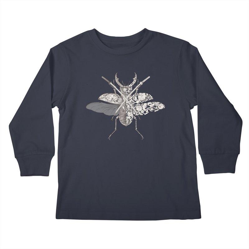 stag beetle samurai Kids Longsleeve T-Shirt by makapa's Artist Shop