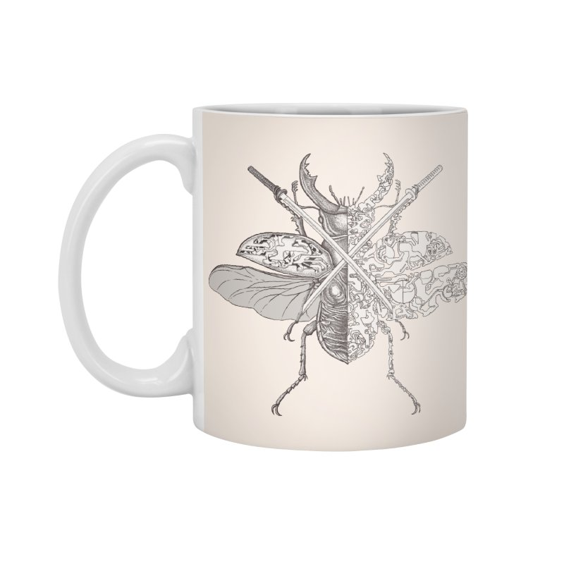 stag beetle samurai Accessories Standard Mug by makapa's Artist Shop