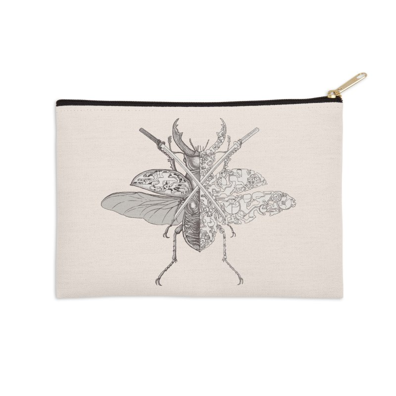 stag beetle samurai Accessories Zip Pouch by makapa's Artist Shop