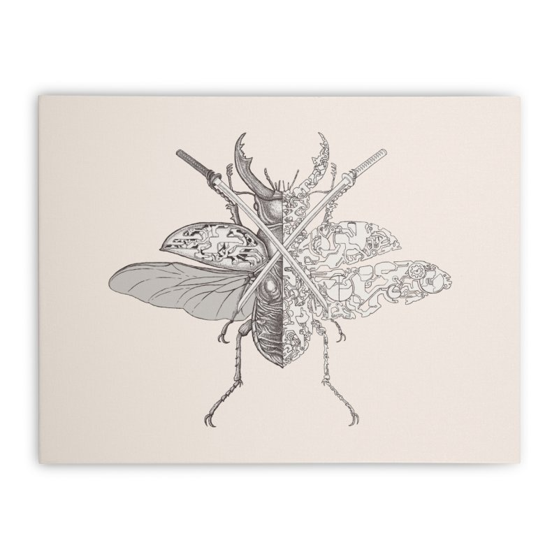 stag beetle samurai Home Stretched Canvas by makapa's Artist Shop