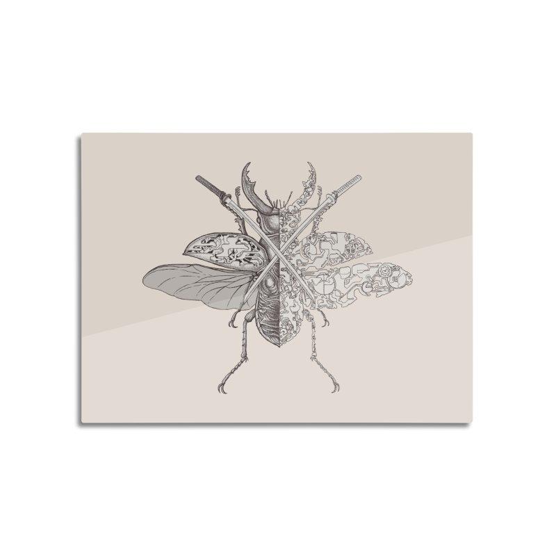 stag beetle samurai Home Mounted Aluminum Print by makapa's Artist Shop