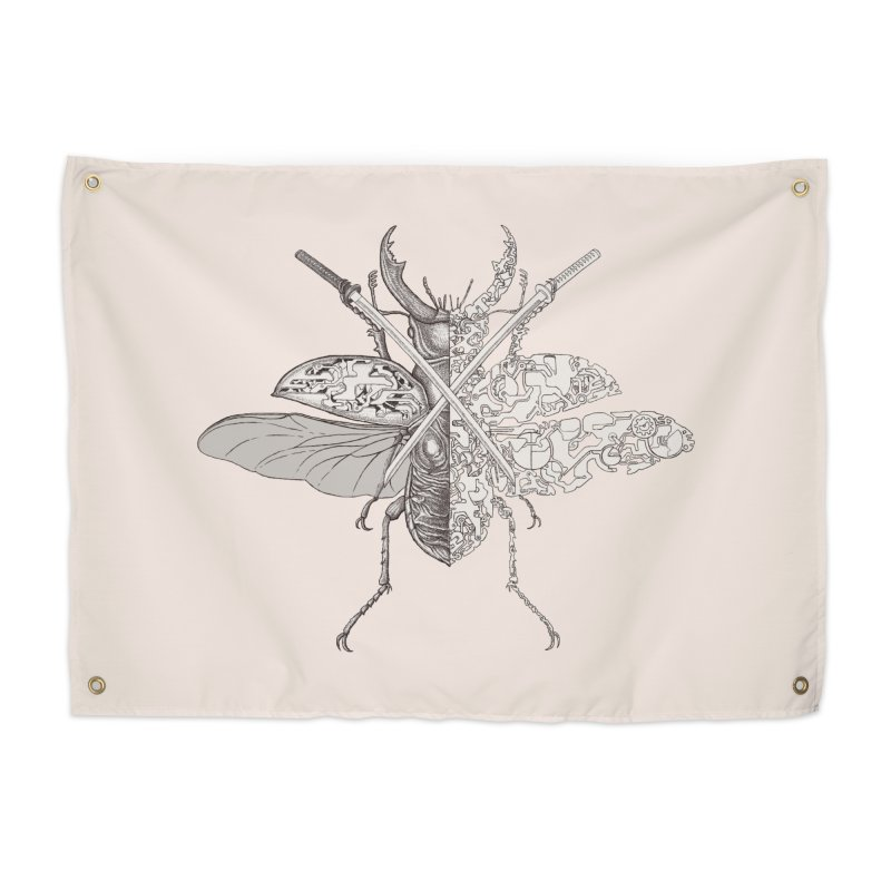 stag beetle samurai Home Tapestry by makapa's Artist Shop