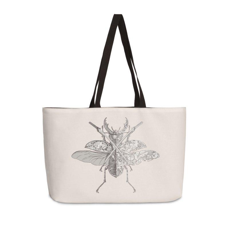 stag beetle samurai Accessories Weekender Bag Bag by makapa's Artist Shop