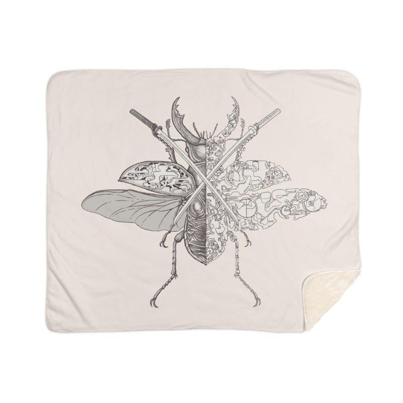 stag beetle samurai Home Sherpa Blanket Blanket by makapa's Artist Shop
