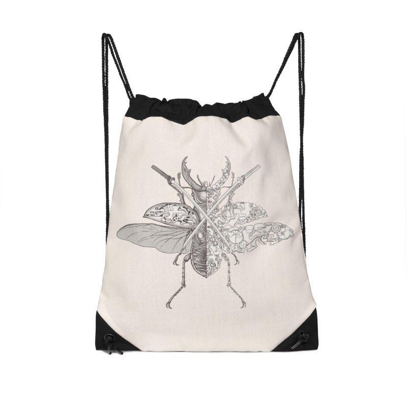 stag beetle samurai Accessories Drawstring Bag Bag by makapa's Artist Shop