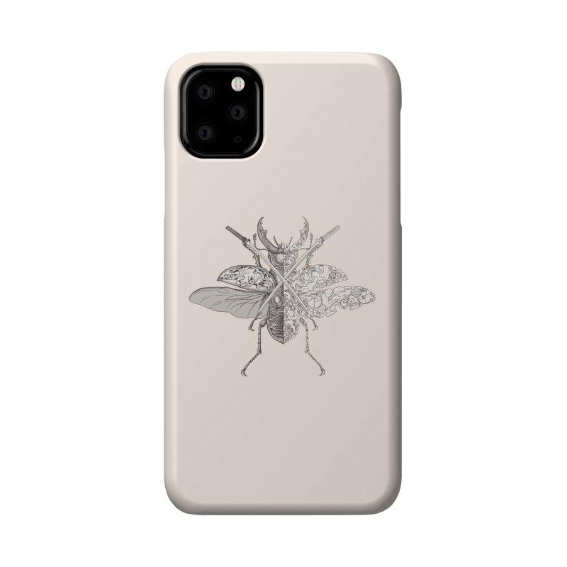 stag beetle samurai Accessories Phone Case by makapa's Artist Shop