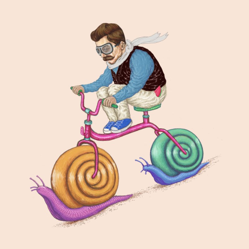 snails bike teen spirit Home Fine Art Print by makapa's Artist Shop