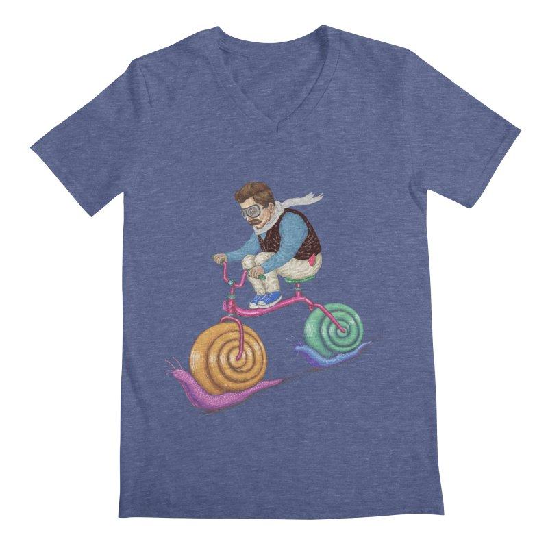 snails bike teen spirit Men's V-Neck by makapa's Artist Shop