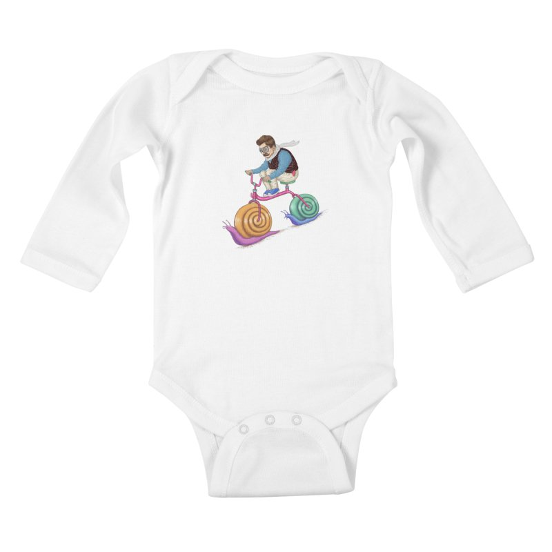 snails bike teen spirit Kids Baby Longsleeve Bodysuit by makapa's Artist Shop