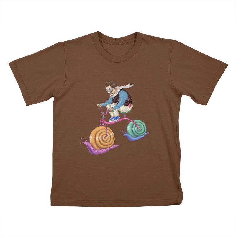 snails bike teen spirit Kids T-shirt by makapa's Artist Shop