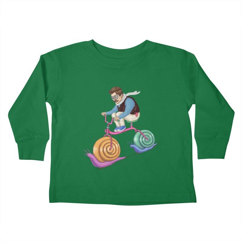 snails bike teen spirit Kids Toddler Longsleeve T-Shirt by makapa's Artist Shop