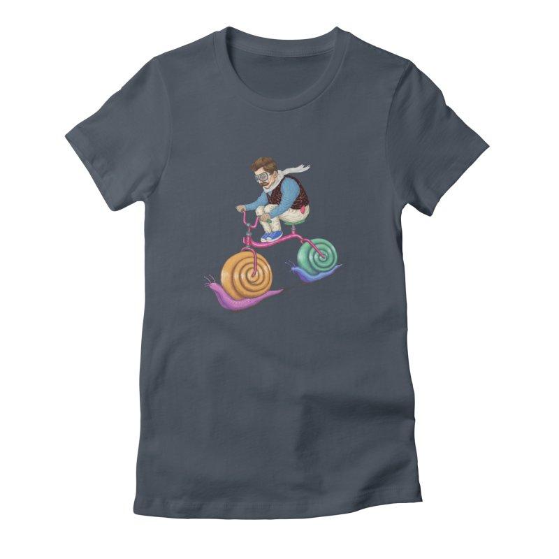 snails bike teen spirit Women's T-Shirt by makapa's Artist Shop