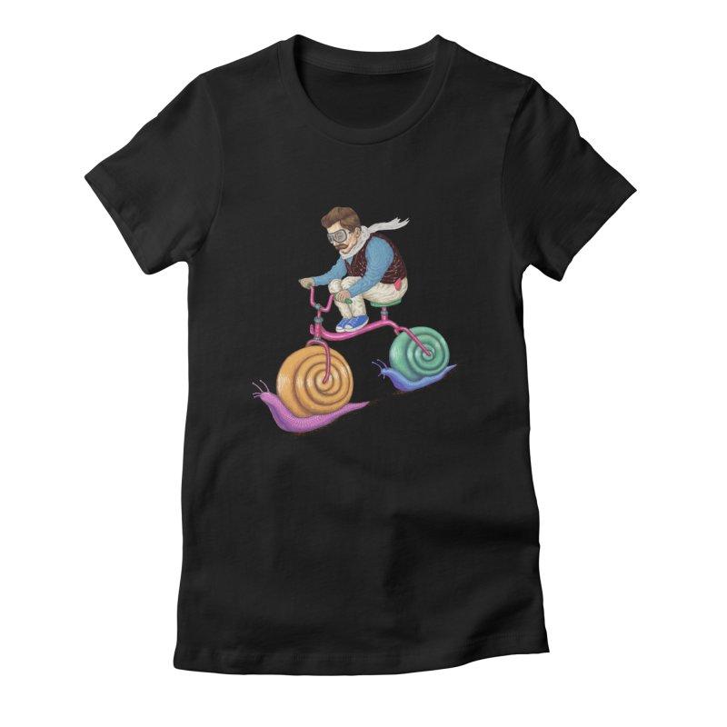 snails bike teen spirit Women's Fitted T-Shirt by makapa's Artist Shop
