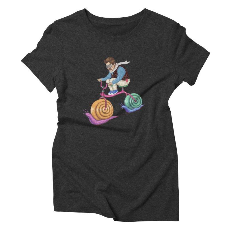 snails bike teen spirit Women's Triblend T-shirt by makapa's Artist Shop