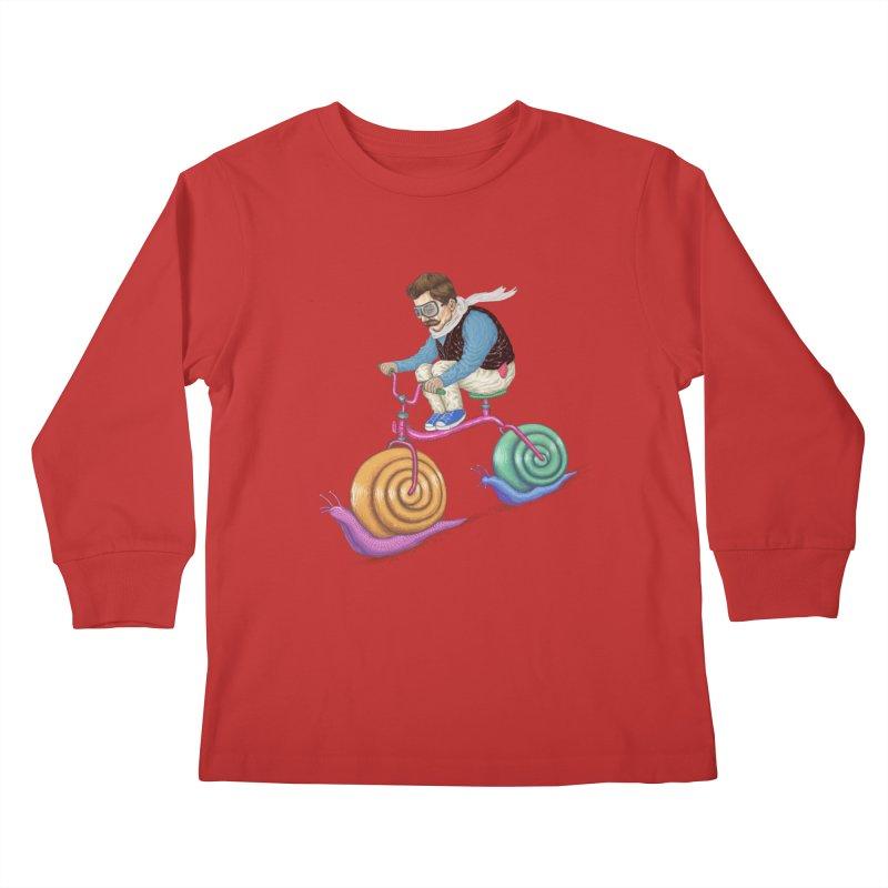 snails bike teen spirit Kids Longsleeve T-Shirt by makapa's Artist Shop