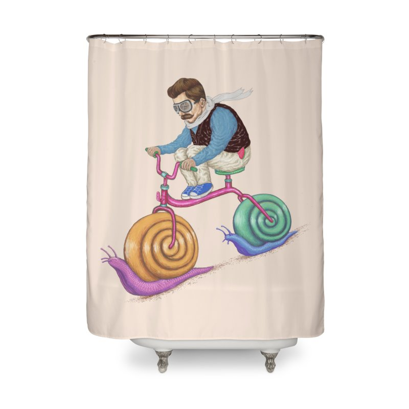 snails bike teen spirit Home Shower Curtain by makapa's Artist Shop