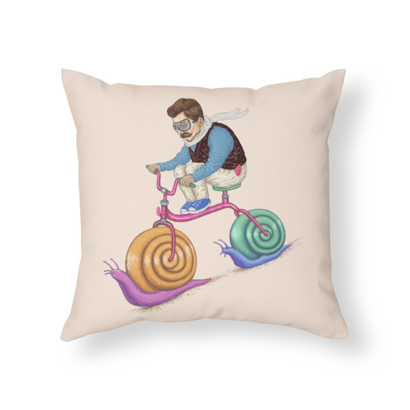 snails bike teen spirit Home Throw Pillow by makapa's Artist Shop